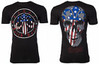 Archaic AFFLICTION Men T-Shirt AMERICAN PATRIOT Skull USA FLAG Biker UFC $40 NWT image