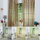Leaves Home Tulle Voile Door Window Curtain Balcony Drape Panel Sheers Valance
