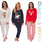 Ladies Pyjamas PJ s  Lounge Wear  Bottoms & Top  Christmas Xmas Nightwear Gift