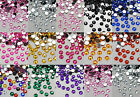 1000 CRYSTAL GEM FLATBACK RHINESTONES MANY SIZES AND COLOURS BUY 10 PAY FOR 5