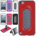 For iPod Touch 5th 6th Gen HARD Case Phone Cover Snap Tail STAND +Screen Guard