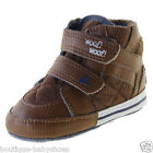 Brown Hi-Top Leather Baby Boy Winter Boots First Walker Toddler Shoes #hy153