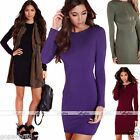 Womens Lady Bandage Bodycon Long Sleeve Slim Evening Party Cocktail Mini Dress
