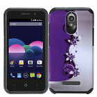 For ZTE Obsidian Z820 HARD Hybrid Rubber Silicone Case Phone Cover +Screen Guard