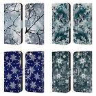 HEAD CASE DESIGNS WINTER PRINTS LEATHER BOOK WALLET CASE FOR APPLE iPHONE PHONES