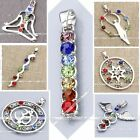 7 Colors Crystal Bead Reiki Healing Yoga God Angel Chakra Pendan Pretty Jewelry