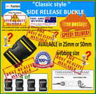 SIDE RELEASE BUCKLES (from $2.29 each) - 4 of - 25mm or  50mm -  incl. FREE POST