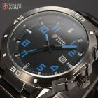 Men Shark Army Panthers Date Sport Stainless Steel Military Analog Wrist Watch