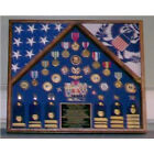 Military 2 Flag Shadow Case, 2 Flag Military Flag Display Case Made By Veterans