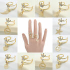 Chic Gold Plated Muliti Styles Finger Ring Fashion Women Opening Adjustable GIFT