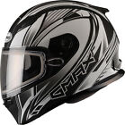 GMax FF49 Snowmobile Snow Helmet Electric Shield Available Flat Black/White
