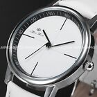 Women Ladies Fashion Dress Casual Black White Leather Wrist Watch Gift