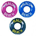 106.7cm/119.4cm Nalu Beach Inflatable Turbo Swim Ring With Handles Black,Pink &