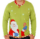 Men's Candy Cane Santa Ugly Christmas Sweater