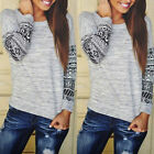 Sexy Women Lady Casual Long Sleeve Crewneck Blouse T Shirt Tops Fashion Jumper