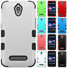 For ZTE Obsidian Z820 IMPACT TUFF HYBRID Hard Phone Case Skin Cover Accessory