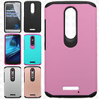 For Motorola Droid Turbo 2 Astronoot Hybrid Rubber Silicone Case Phone Cover