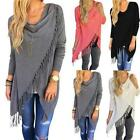NEW Stylish Women Long Sleeve Tassel Shirt Loose Casual Top Cardigan Coat Blouse