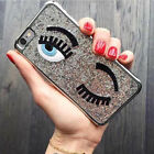 Cute Bling Electroplate Shining 3D Eye Back Case Cover For iPhone 6 6S Plus 5 5S