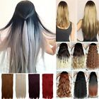 UK Sexy 1 Piece 3/4 Full Head Clip In on Hair Extensions Real human Favorite 54