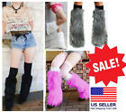 Внешний вид - Soft Fuzzy Fluffy Furry Multi-Colored Leg Warmer Boot Cuff Topper Fashion/Rave