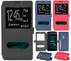 For LG V10 Premium Dual Window Side Flip Protector Phone Case Cover Accessory