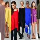 Summer Women Loose Batwing Long Top Cape Tunic Poncho Plus Size Hot Mini Dress