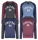 Firetrap New Men's Print Crew Neck Sweatshirt Solon Sweat Top Grey Red Blue