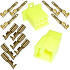 Motorcycle Mini-Latch - Wiring Connector Set (2.8mm) - 6 way (YELLOW)