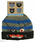 Kids Boys Monsters Beanie Hat, 4 in 1 Monster Animal Hat, Blue Red Winter Gift