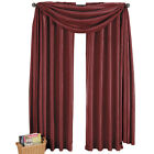 Elegance Solid Burgundy Rod Pocket Window Treatment, Polyester Multi-Sizes Panel