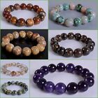 15mm Fashion round gemstone beads stretchable bracelet 8""