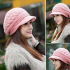 Fashion Womens Lady Winter Braided Knitted Crochet Slouch Baggy Beanie Warm Hats