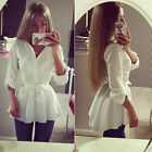 Fashion Women Blouse Shirt Long Sleeve Button Down Casual Tops Ladies Slim Shirt