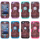 For iPod Touch 6th /5th Gen Grass Tree Forest Camo Hybrid Rubber Hard Case Cover