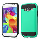 Samsung Galaxy Prevail LTE Brushed Metal HYBRID Rubber Case Phone Cover