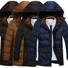 MEN DESIGNER JACKET HOODED Hooded PADDED Coat Overcoat Windbreaker Outwear Long