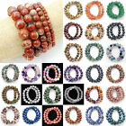 4mm 6mm 8mm 10mm 12mm Natural Gemstone Round Beads Stretch Bracelet Jewelry 7.5""