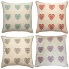 Catherine Lansfield Home Vintage Hearts Cushion Cover