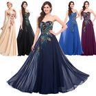 CLASSY PEACOCK Bridesmaid Masquerade Long Evening Gown Wedding PROM Party Dress