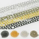"Fashion 3mm 4.5mm Curb Chain Jewelry Making Jewelry Necklace 50cm/20"" 5 Colors"