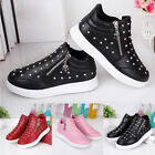 New Toddler Baby Girls Casual Rhinestone Kids Ankle Boots Trainers Zipper Shoes