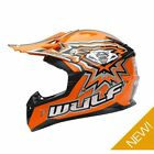 Wulfsport Kids Childrens Flite Xtra MX Motocross Motor Bike Helmet - Orange