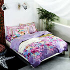 Peony Single Queen King Size Quilt Doona Duvet Cover Set Floral 100%Cotton New