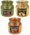 LESSER & PAVEY HOME SWEET HOME FRUIT HARVEST LARGE JAR (3 COLOURS) ITEM: LP27628