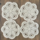 4/SET 8/SET 7'' Round Handmade Cotton Crochet Lace Doilies Coaster Placemat E01