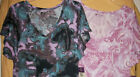 Lucky Brand Lounge women's teal purple nightgown coverup tee night shirt V top S