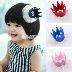 Baby Toddler Charm Red/Pink/Blue Cute Crown Headpiece Hair Clip Girls Funny Cap
