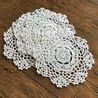 4/SET 8/SET 8'' Round Handmade Cotton Crochet Lace Doilies Coaster Placemat A03