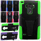 For At&t LG G Vista 2 Advanced Layer Rubber HYBRID KICKSTAND Case Phone Cover